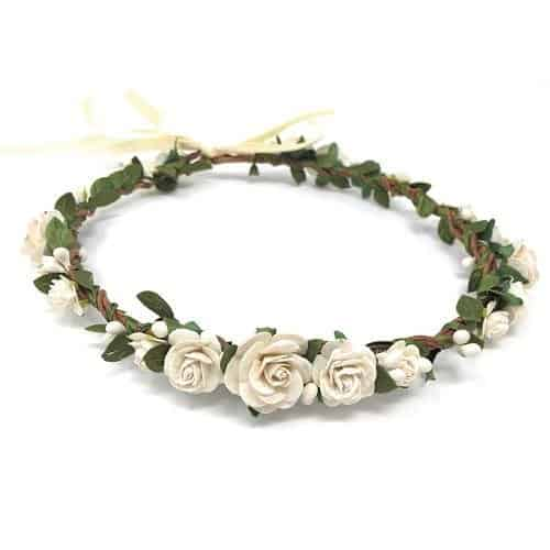 white flower crown for girls